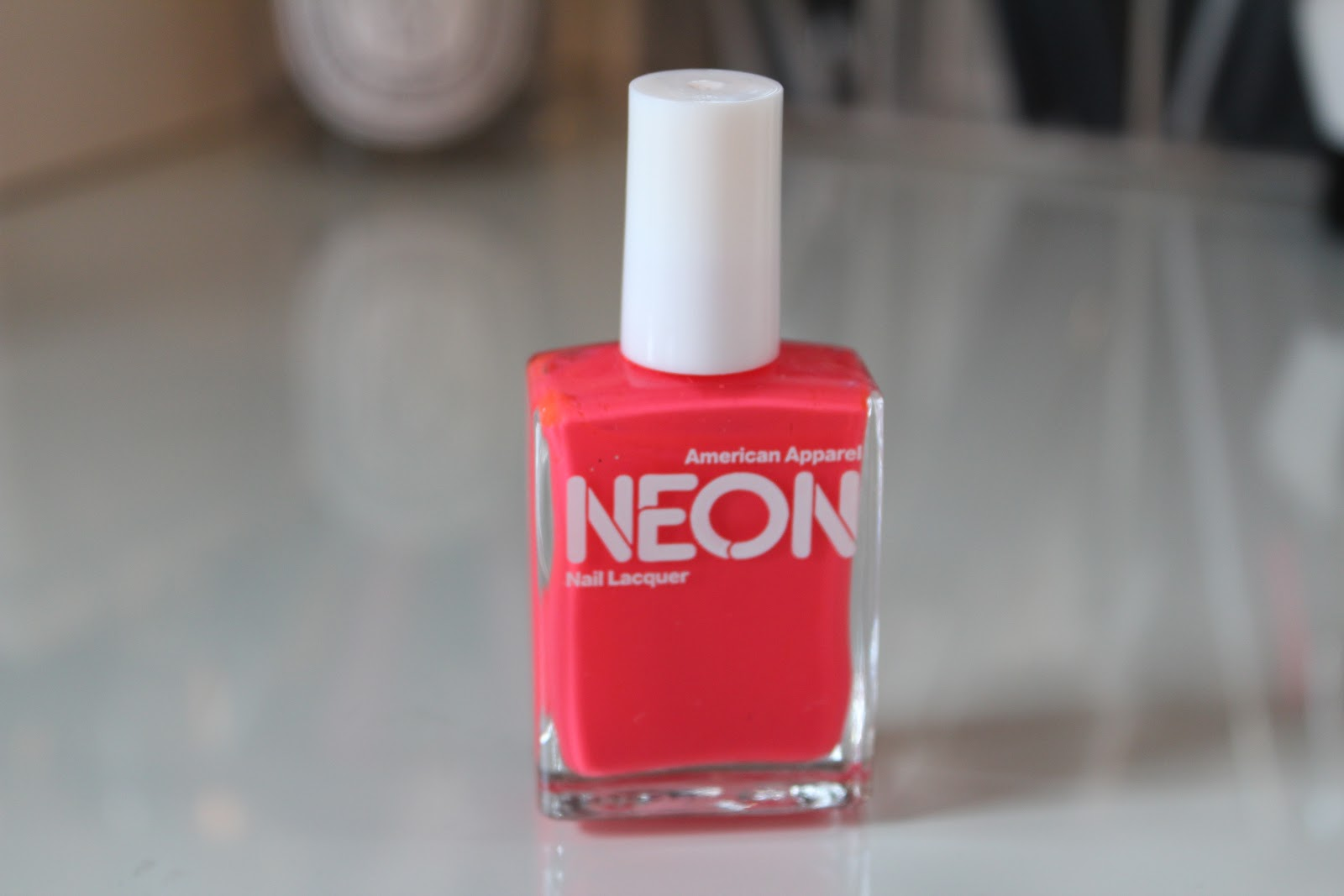 American Apparel Neon Red Nail Polish – Lily Pebbles
