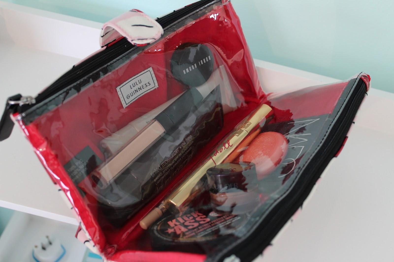 lulu guinness double makeup bag