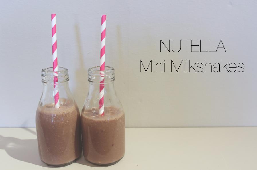 NUTELLA MINI MILKSHAKES – Lily Pebbles
