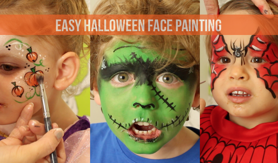 easy halloween face painting lily pebbles