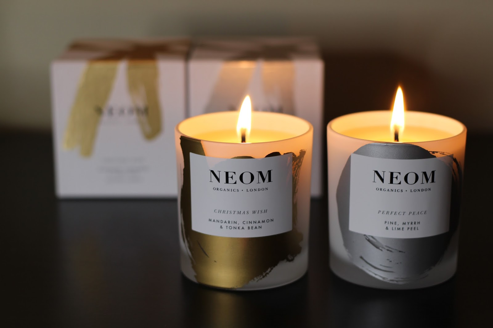 neom christmas candles lily pebbles. Black Bedroom Furniture Sets. Home Design Ideas
