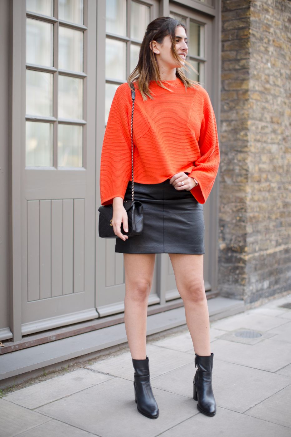 how i style a leather skirt pebbles